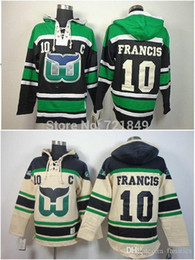 Cheap Hartford Whalers hooded Jersey  10 Ron Francis Old Time Hockey  Hoodies Sweatshirts Size M--3XL 354a576f1