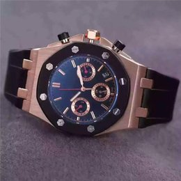 Wholesale Small Mechanical Watch - AAA Quality Mens Watches Silicone Mechanical Wristwatches Top Brand Replicas Small Dials Work Drop Ship Luxury Watch