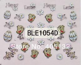 Wholesale Nail Decals Ble - Free Shipping 20sheets lot Mixed Nail Art Cute BLE Easter Sticker Nail Art Sticker BLE1047D-1058D Stickers & Decals