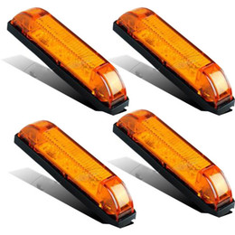 Wholesale Vehicles Mercedes - 4pcs Utility Strip Light amber 4inch Vehicles Decoration 12V 6LED Clear Lens