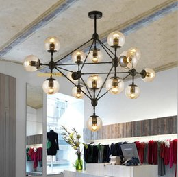 Wholesale Vintage Bubble Light Lamp - Modo Magic Bean Chandeliers Pendant Lights Lamps Lighting Fixtures For Living Room Mall Hotel AC110-240V LED DNA Bubble Glass Ball CE FCC