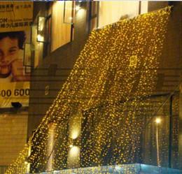 4mx4m LED luci natalizie stringa 512 LED cascata cortina di luce festa Fata Wedding Yard Xmas Hotel Holiday decorazione lampada da