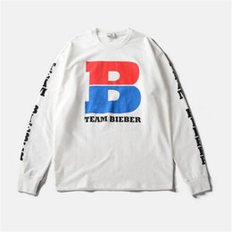 Wholesale Special Tees - TEAMBIEBER Long Sleeve Tee shirt Men Hip hop Streetwear Camisetas Hombre 4 Types Special Avatar Printed T shirt Size M-XXL Tees