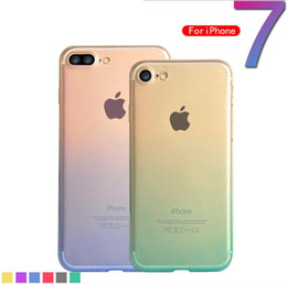 Wholesale Change Cover Bag - Gradual change Transparent Clear Crystal Case For iPhone 7 Plus Soft Rubber Bag Cases Luxury TPU Silicone iPhone7 Phone Cover