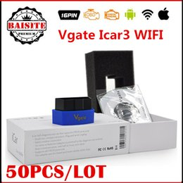 Wholesale Obd2 Wifi For Land Rover - Wholesale Price!!50pcs lot vgate icar3 icar 3 elm327 elm 327 obd2 wifi for PC IOS Androids  iphone icar3 wi fi scanner