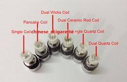 Wholesale Dry Herb Bulbs - Dual Wax Atomizer Coil Quartz Coil For Wax Vaporizer Pens Glass Globe Bulb Wax Vape Pen Coil Dry Herb Vaporizer Skillet