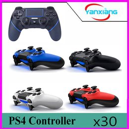 Wholesale Game Controller Android - 30pc Wireless Bluetooth Game Controller for PlayStation 4 PS4 Game Controller Joystick for Android Video computer Games BX-PS4-1