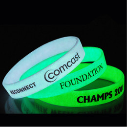 Wholesale Screen Print Silicone Bracelet - Glow In The Dark Screen Printing Silicone Bracelets Custom Wrist Band With Pantone Number Adult Promotional Sports Bracelet Wholesale