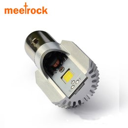 Wholesale Led Motorcycle Headlight Bulb - Motorcycle LED Headlight H6 Bulbs 8W 1050LM BA20D 6000K Hi Lo Beam All In One Lamp Scooter Headlights motorcycle accessories