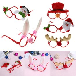 Wholesale Framing Media - Christmas Glasses Ornaments Kids Adult Sunglass Eyeglass Costume Eye Frame Xmas Gifts Party Decoration for Christmas