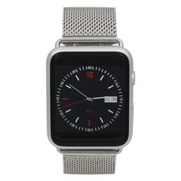 Wholesale Huawei Smart Phones - DHL 2016 new Stainless Steel Strap bluetooth smart watch iwo 1:1 smartwatch case for apple iphone and sony Huawei andriod phone