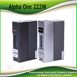 Wholesale Power Chips - Original Voopoo Alpha One 222W TC Mod Powered By US Gene Fun Chip Instant Firing Ecig Vape Box Mods 100% Authentic