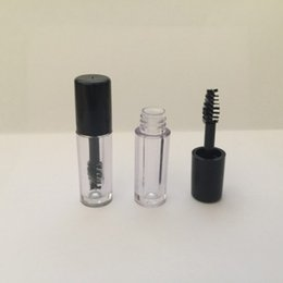 Wholesale Mini Mascara - 0.8ml Plastic Mini Clear Empty Mascara Tube Vial Bottle Container With Black Cap for eyelash growth medium mascara