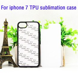 Wholesale Choose Print - Mix free choose for iphone 7 7 plus soft rubber TPU 2D Sublimation Blank case with plates and glue heat transfer print Free shipping 20pcs