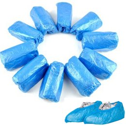 Wholesale Disposable Overshoes - 100 Pcs Disposable Shoe Covers Carpet Cleaning Overshoe Guests Family Unisex PE Shoe Cover Blue Pink White