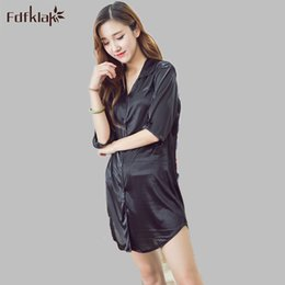 Wholesale Ladies Night Shirt New - Wholesale- New 2017 Fashion Women Nightgowns Plus Size Casual Sleepwear Ladies Night Dress Half Sleeve Sleepshirts Women's Night Shirts