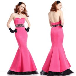 Wholesale Charmeuse Sheaths - Peach Mermaid Evening Dresses Charmeuse Sweetheart With The Waist Have Adornment Custom Desgin Prom Gown Evening Wear