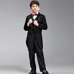Wholesale Boys Suit Size Red - Boys Wedding Suits Size Black Boy Suit Formal Party three-piece Pants Vest Kids Suits hot sale High quality custom