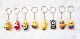 Wholesale Images Boy Accessories - Hot sale wholesale 50pcs cartoon animation image key chain fashion bag accessories children lovely small gifts free shipping 452