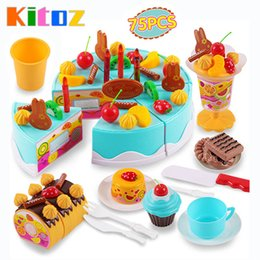 Wholesale Doll Foods - Kitoz 75pcs Happy Cutting Mini Cake Sweet Toy Miniature Food for Doll Pretend Play Plastic Kitchen Toy Birthday Gift for Girl Kids