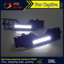 Wholesale Led Daytime Captiva - Free shipping ! 12V 6000k LED DRL Daytime running light for Chevrolet Captiva 2008-2012 fog lamp frame Fog light