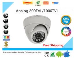 "Wholesale Camera Domes Plastic - Analog CCTV Camera 1 4""CMOS Indoor Use Dome 800TVL 1000TVL Plastic IR Cut Filter Day Night Vision IR Analog Camera Free Ship"