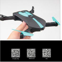 Wifi cellphone hd on-line-Mini Drones Celular JY018 Gyro ELFIE WI-FI FPV HD 200 W Câmera RC Quadcopter Dobrável G-sensor RC Selfie Zangão Com Caixa De Varejo