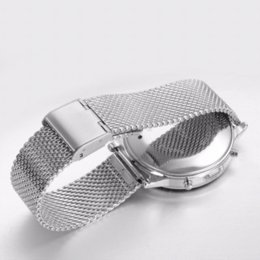 Telecomando a buon mercato bluetooth online-Bluetooth 4.0 Smartwatch per Android IOS Smart Watch Cinturino in acciaio Round Remote Control Watch Apriporta economico