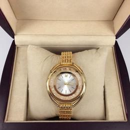 Wholesale Diamonds Battery - 2016 New Fashion Style Women Watch With Full diamond Lady Watch Steel Bracelet Chain Luxury Quartz Watch High Quality