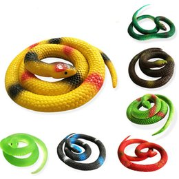 Wholesale Old Party - Novelty Halloween Gift Tricky Funny Spoof Toys Simulation Soft Scary Fake Snake Horror Toy For Party Event