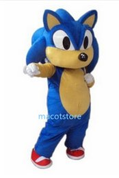 Wholesale Sonic Hedgehog Costume Adults - 2015 new The Hedgehog Sonic Mascot Costume Adult Size Fancy Dress Party Outfit + Free Shipping