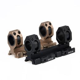 Wholesale Picatinny Rail Scope Mount Rings - 25mm 30mm Dual Ring Cantilever Heavy Duty Scope Mount Picatinny Weaver Rail 20mm Black