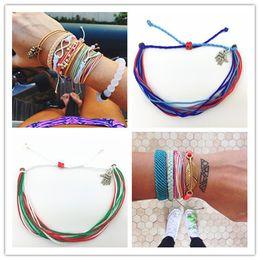 Wholesale Lucky Tibetan Bracelet - 2016 Unisex multi layer bracelet Ethnic lucky colorful cord bracelets Tibetan hand-woven rope bracelets free shipping