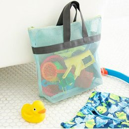 Wholesale tool bath toys - Wholesale- Useful Carry Mesh Handy Pouch Kids Toy Bag Beach GYM Travel Bath Bag Female Cosmetic Makeup Tool Bag Organizer Free Shipping 264