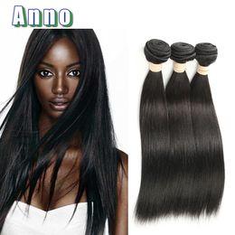 Wholesale Virign Peruvian Hair - ANNO Peruvian Straight Virgin Hair 3pcs Unprocessed Virgin Peruvian Hair Weave Bundles 100% Peruvian Virign Hair Straight