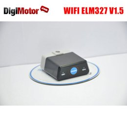 Wholesale Automotive Switches - Wholesale-WIFI ELM 327 V1.5 OBD 2 ELM327 V 1.5 Switch OBDII OBD2 Connector For iPhone IOS Android Scanner Automotive Car Diagnostic