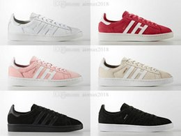 Wholesale Men Campus Shoes - 2018 superstar Originals Campus Stan smith shoe for boy girl Men Women with White Red Black Green stansmith speedcross star shoes
