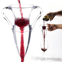 Vino angelo online-Portable Angel Wine Aeratore Bottle Decanter Set, Deluxe Magic Red Wine Aerazione Decanter All'ingrosso 20 pz / lotto DHL LIBERA il Trasporto 0419xx