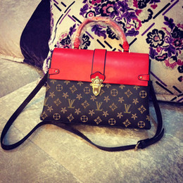 Wholesale Designer Genuine Leather Ladies Handbags - 2017 Luxury brand handbags women shoulder bags Fashion designer totes purses ladies leather bags female business bolsas no92