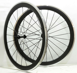 Wholesale Carbon Wheel Brake Surface - Free shipping 700C 50mm depth 25 mm width alloy brake surface carbon wheels clincher road bicycle wheelset with Powerway R13 hub.