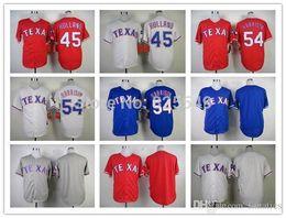 Wholesale New Holland Stopping - 2015 New Cheap Texas Rangers Jersey 45 Derek Holland 54 Matt Harrison Blank Baseball Jerseys,All Stitched,Best Quality,Size M-XXXL