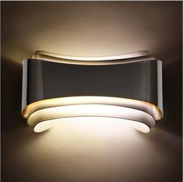 Lámpara led ba15d online-Moderno minimalista 5w Led apliques de pared Apliques de pared Lámpara de cabecera Lámparas para montaje en pared de interior Sala de estar de Badroom