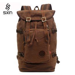 Wholesale Vintage Hiking Backpacks - Vintage Men's Backpacks Rucksack Canvas Shoulder Bags Luggage Travel Hiking Camping Backpack Bag 8166