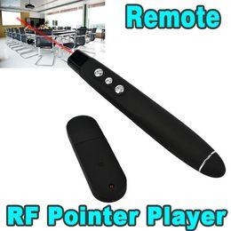 Wholesale Wireless Pointer Powerpoint - USB Wireless Powerpoint Presentation RF Remote Controller PPT Presenter Red Laser Pointer Pen Laser Pointer Presentation