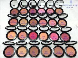 Wholesale Wholesaler Name - 2017 MACS MAKEUP Lowest Shimmer Blush 24 color No mirrors no brus 6g English Name 10PCS B728