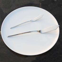 Wholesale Eco Tablewear - 2pcs Stainless Utensil Cutlery (Butter Knife + Fish knife) Cheese Dessert Jam Spreader Breakfast Baking Cake knife tablewear set