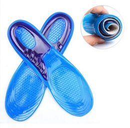 Wholesale Insole For Shoes Wholesale - Shoe Silicone Gel Pad Insert Insole Comfortable Cushion Anti-Vibration Soft for Trainning Sports Sport Running Cushion Insert KKA2367