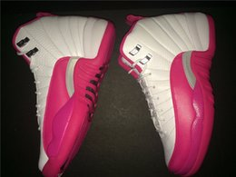 Wholesale Valentines Day Pig - white cheap pink retro 12 women sport shoes XII 12s girl white pink trainers quality valentine day sneakers top style wholesale