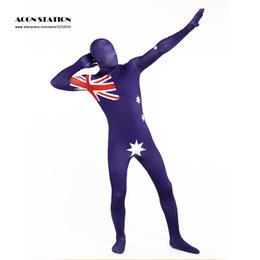 Wholesale Man United Flags - Wholesale-Unisex The United States Flag Lycra Spandex Stylish Zentai Suits for Halloween, Christmas