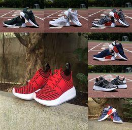 Wholesale R Shoes - Original 2017 NMD R2 PK Primeknit Running Shoes High Quality Men Women NMD RUNNER PK Boost socks Training Sneakers Sport Shoes R 2 szie36-45